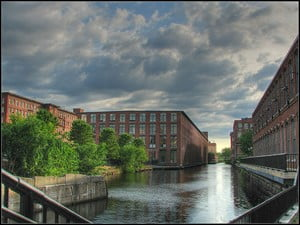 The Pawtucket Canal in Lowell, MA